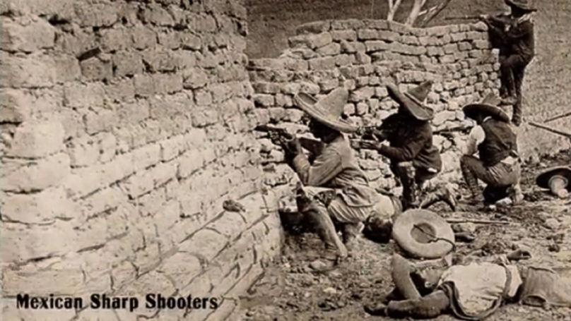 Tireurs d'élite mexicains de la période révolutionnaire (carte postale). Les années 1910 sont une période de guerre civile dans le pays. Franz von Papen, ancien attaché militaire aux États-Unis et au Mexique, a activement soutenu le régime mexicain.