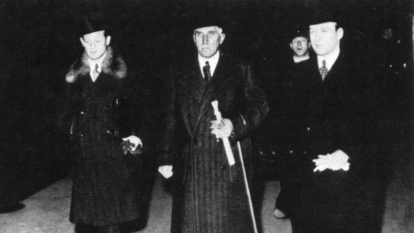 Vienne, 1938. De gauche à droite: Wilhelm Freiher von Ketteler (attaché de l'ambassade d'Allemagne à Vienne), l'ambassadeur allemand en Autriche Franz von Papen et Hans Graf von Kageneck (attaché de l'ambassade d'Allemagne à Vienne) // Federal Archive Lichterfelde