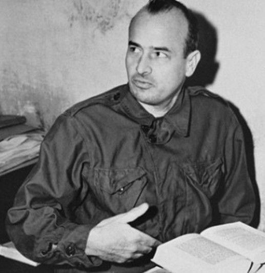 Hans Frank dans sa cellule, novembre 1945
