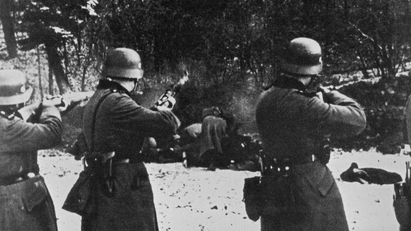Exécution de citoyens polonais par une unité de la Wehrmacht, 1939