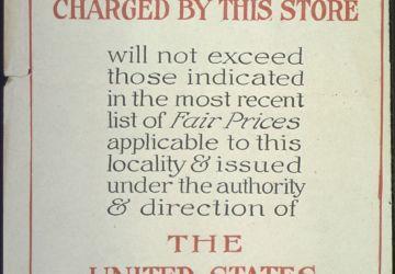 Affiche américaine de contrôle des prix datant de la Seconde Guerre mondiale Domaine public