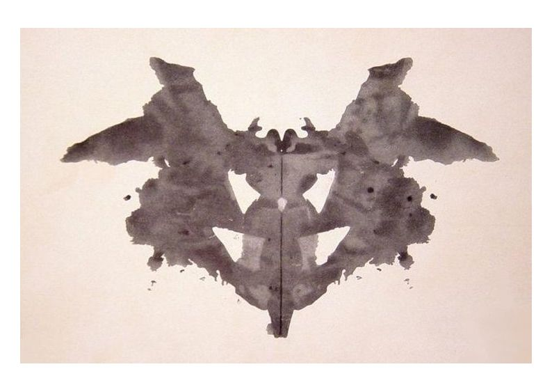 the first of the blots of the Rorschach inkblot test