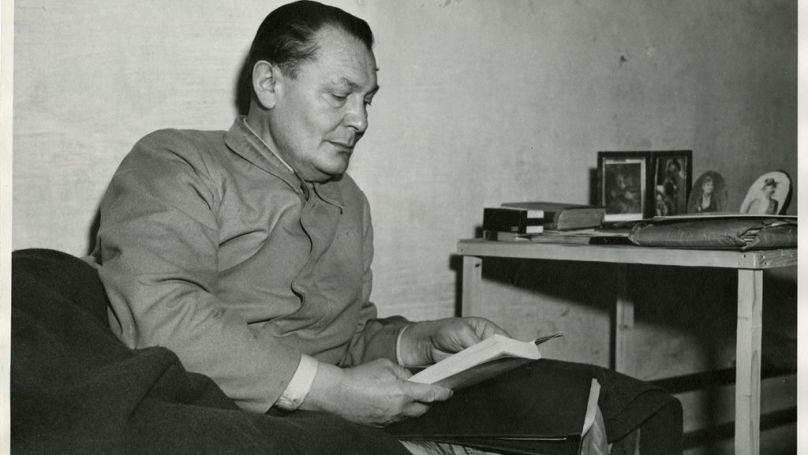 Göring se distinguait par sa force extraordinaire, sa conviction et son courage. Le psychiatre Kelley est tombé sous son mauvais charme. Sur la photo: Hermann Göring dans une cellule de la prison de Nuremberg