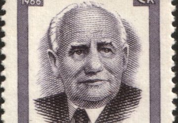 Stamp of USSR depicting Wilhelm Pieck (1876–1960)