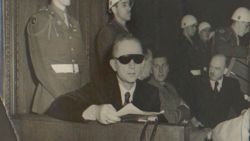 L'accusé Karl Dönitz, 1946 // Archives d'État de la Fédération de Russie F. R-7021. Op. 128. D. 279. L. 10.