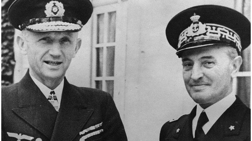Karl Dönitz et son homologue italien, l'amiral Angelo Parona, 1941
