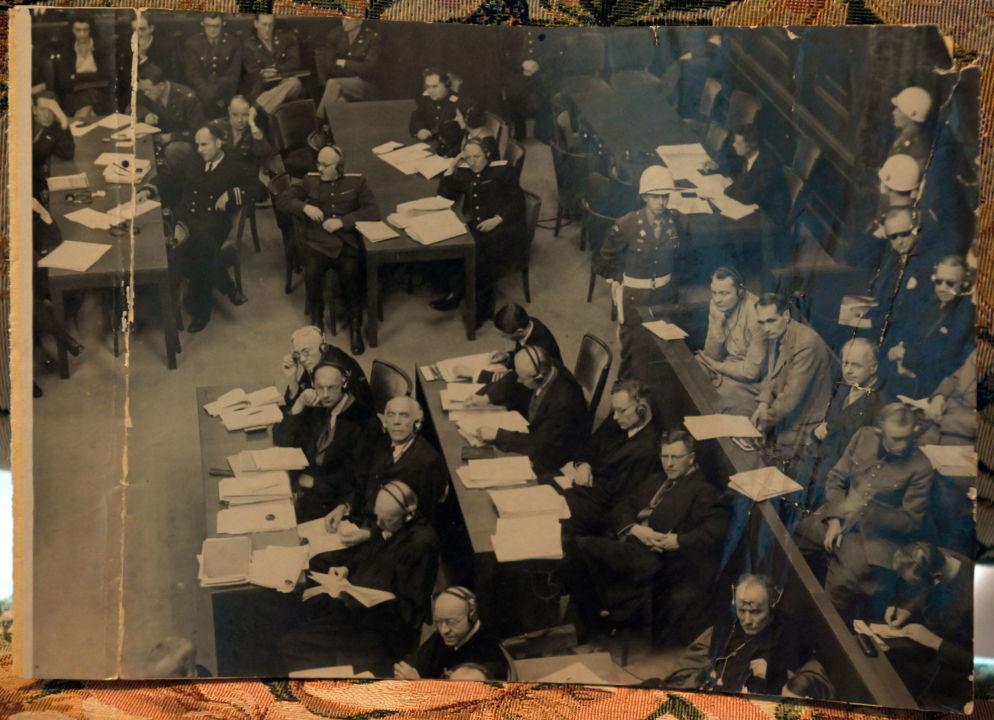 Salle d'audience du tribunal militaire international. Photo prise par l'envoyé spécial de TASS Evgueni Khaldeï. Archives de la famille Reznitchenko.