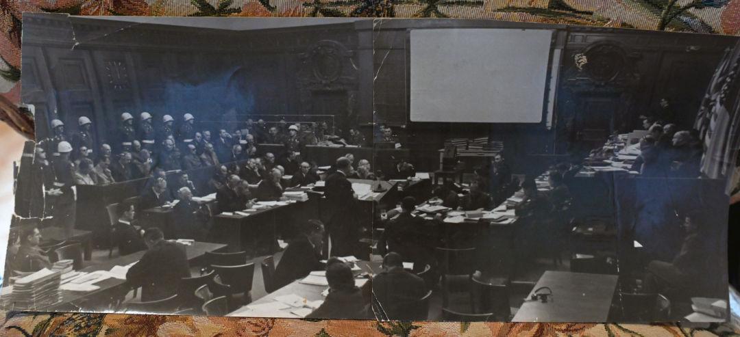 Vue de la salle d'audience du tribunal international. Archives de la famille Reznitchenko.