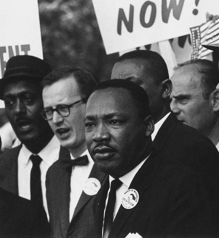 Martin Luther King at the 1963 Civil Rights March in Washington, DC © Public Domain