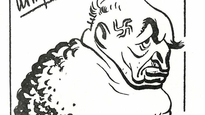 Streicher. Caricature by Boris Efimov © The artist's family archive