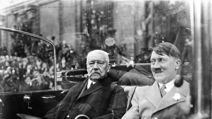 German President Paul von Hindenburg and Chancellor Adolf Hitler, 1933