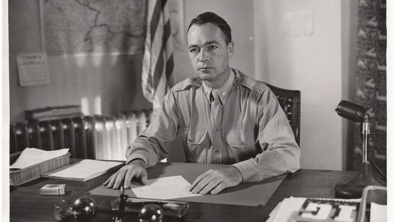 Telford Taylor, chef de l'accusation dans l'équipe duquel Ferencz a travaillé au Tribunal international de Nuremberg