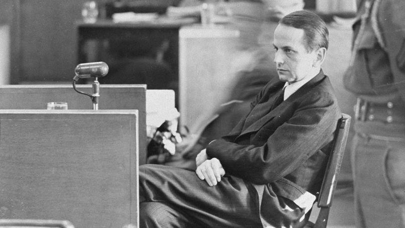 Otto Ohlendorf lors du procès de Nuremberg // USHMM