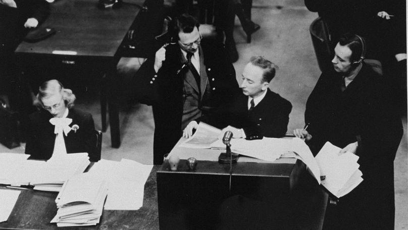 Ferencz a trouvé des rapports détaillés sur les meurtres de Juifs, de Tsiganes et de malades mentaux, commis par les Einsatzgruppen, équipes punitives spéciales de la SS // U.S. federal government