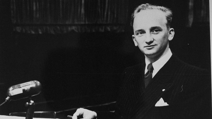 Benjamin Ferencz a été embauché presque immédiatement comme procureur au tribunal international de Nuremberg // USHMM