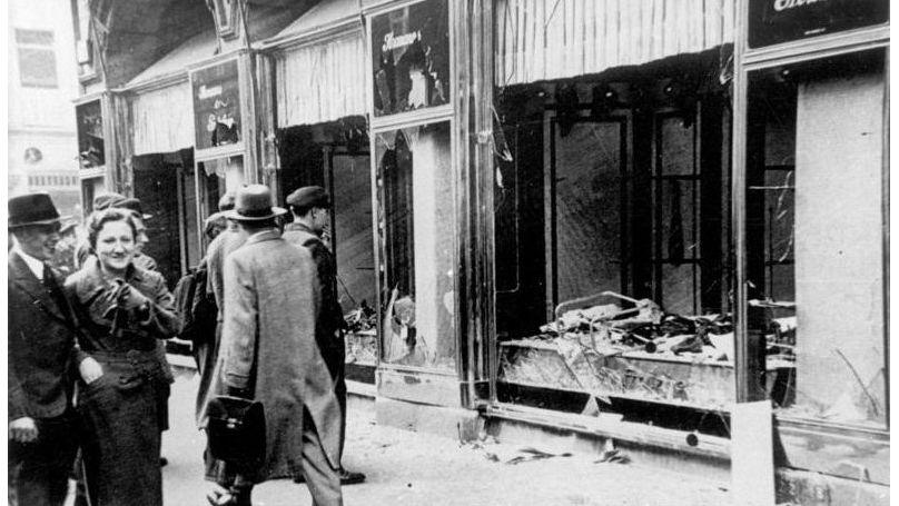 Kristallnacht, or Broken Shop Windows Night, 10 November 1938