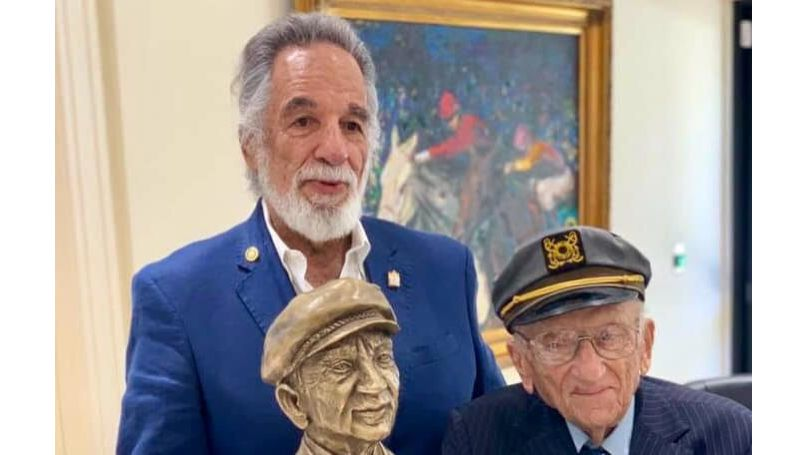 Sculptor Yaacov Heller fashioned a bust of Ferencz in memory of his long, difficult, and eminently worthwhile life dedicated to fighting genocide
