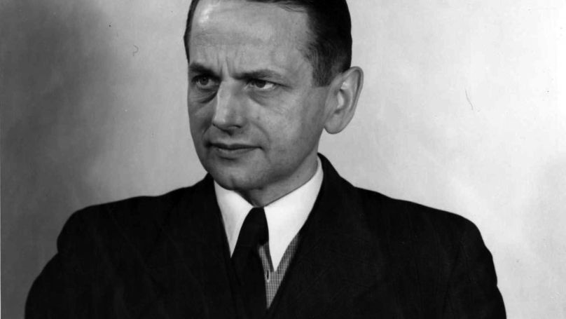 Le principal accusé, Otto Ohlendorf, Gruppenfuhrer SS et commandant de l'Einsatzgruppe D / US Army