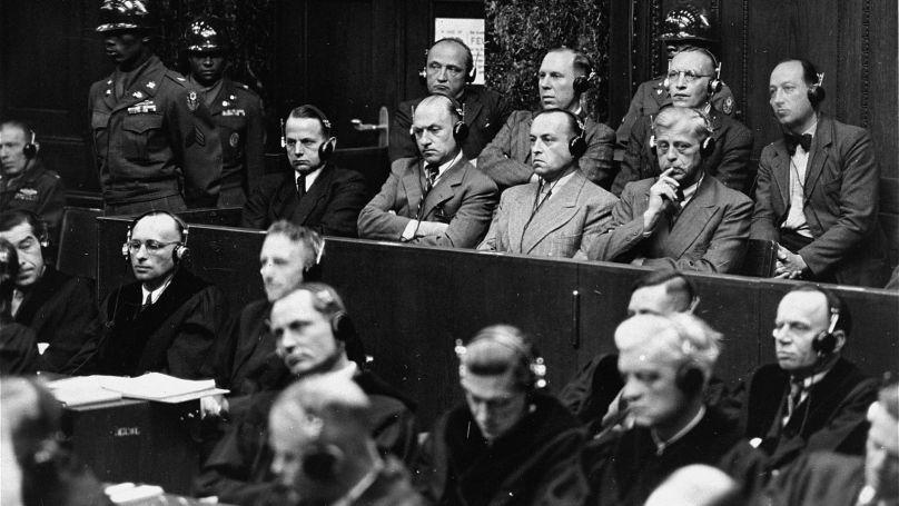 Le procès de Nuremberg sur l'affaire contre les Einsatzgruppen (officiellement dénommé The United States of America vs. Otto Ohlendorf), le neuvième des douze procès de Nuremberg pour crimes de guerre // USHMM