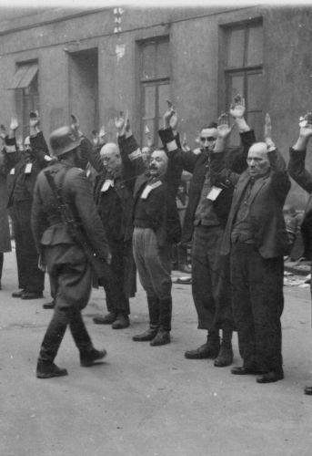 Residents of the Warsaw Ghetto.