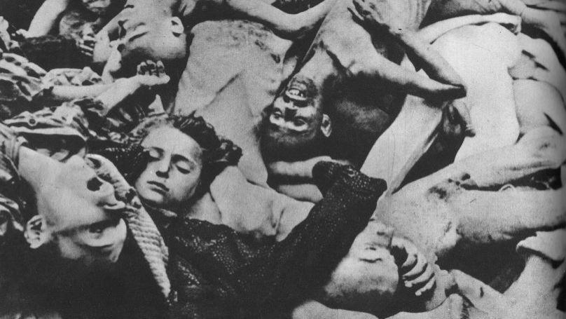 Dead bodies at the Majdanek concentration camp