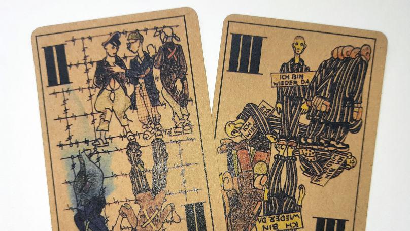 The unique deck by Boris Kobe is a mini-version of Dante' hell