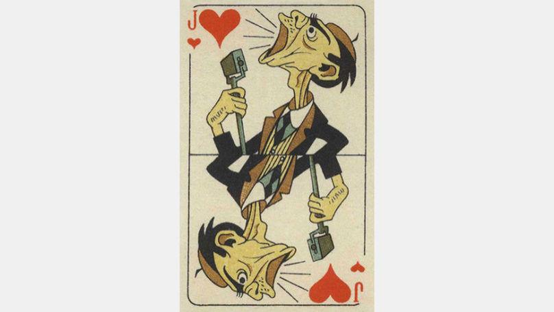 Pour dessiner des cartes, Vlassov a reçu des photographies du Führer, des dictateurs des États alliés fascistes, des magazines étrangers avec des photographies de hauts dignitaires du Troisième Reich. Sur la photo: carte représentant Joseph Goebbels