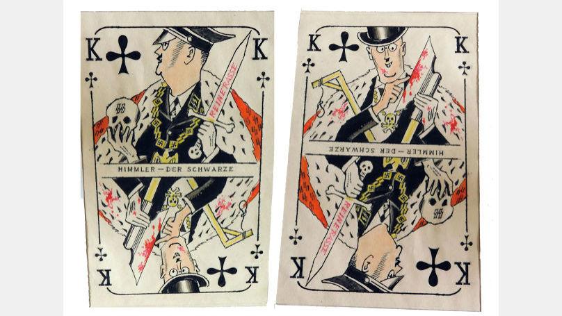 Hitler, Goebbels, Himmler et Göring sont devenus les «rois» dans le jeu de cartes de Kharkevitch. Sur la photo: carte représentant Himmler