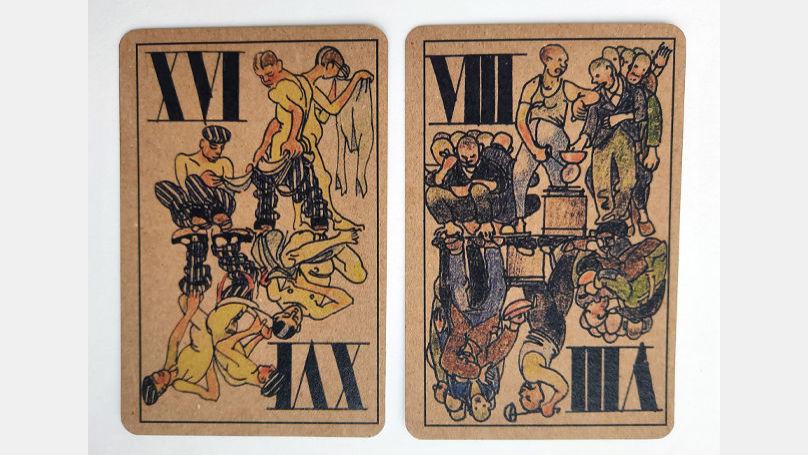 L'idée du jeu de cartes est la personne réduite à un chiffre