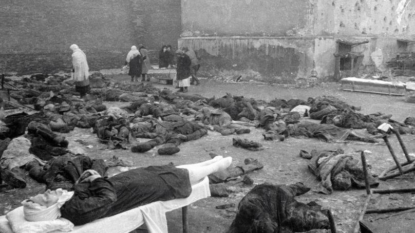 Des civils de Rostov-sur-le-Don, abattus par les nazis avant la retraite des troupes
