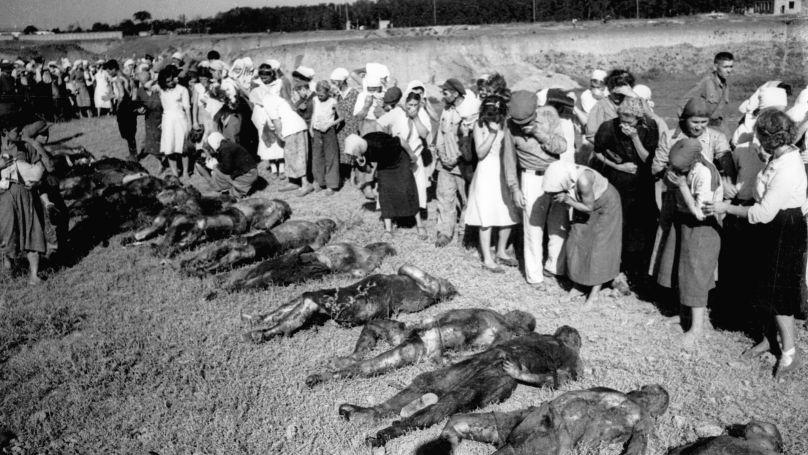 Ravin de Petrushino (Todesschlucht) près de la ville de Taganrog, une fosse commune de civils torturés et exécutés.
